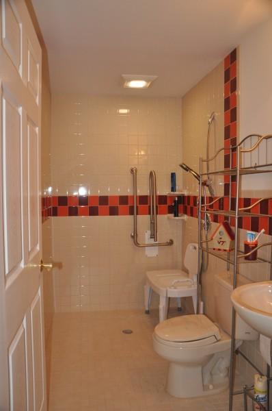 Universal Design Bathroom Remodel With Wheelchair Access Blue - Bathroom remodel for wheelchair access