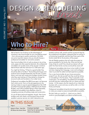 BRHI 1st Quarter Newsletter 2011