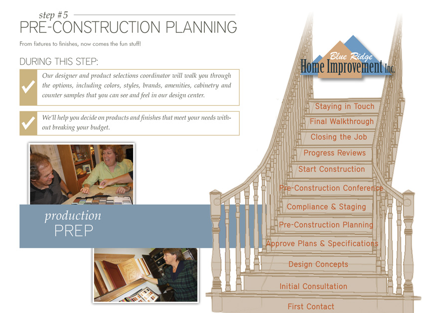 Step 5: Pre-Construction Planning